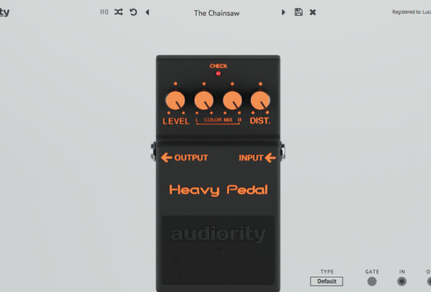Audiority HeavyPedal software plug-in audio distortion stomp pedale daw virtual strumenti musicali