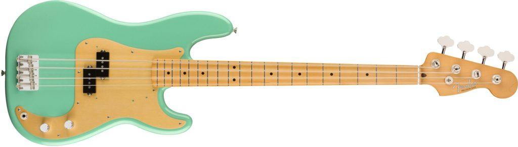'50s Precision Bass Sea Foam Green Fender Vintera chitarra elettrica guitar electric stratocaster telecaster precision bass jazz jaguar jazzmaster mustang strumenti musicali