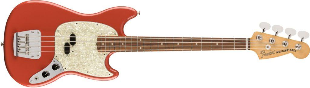 '60s Mustang Bass Fiesta Red Fender Vintera chitarra elettrica guitar electric stratocaster telecaster precision bass jazz jaguar jazzmaster mustang strumenti musicali