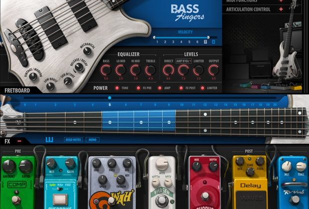 Waves Bass Fingers virtual instrument basso producer strumenti musicali