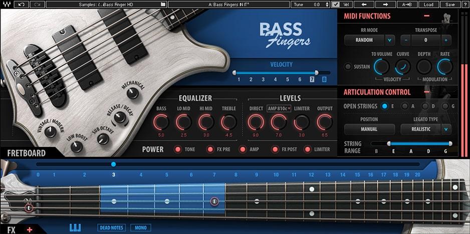 Waves Bass Fingers virtual instrument basso producer strumenti musicali