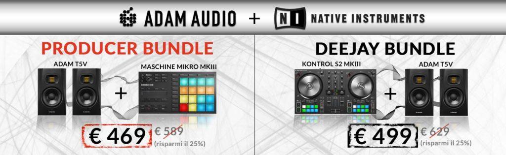 Adam Audio Native Instruments bundle promo midi music dj producer controller monitor audio strumenti musicali