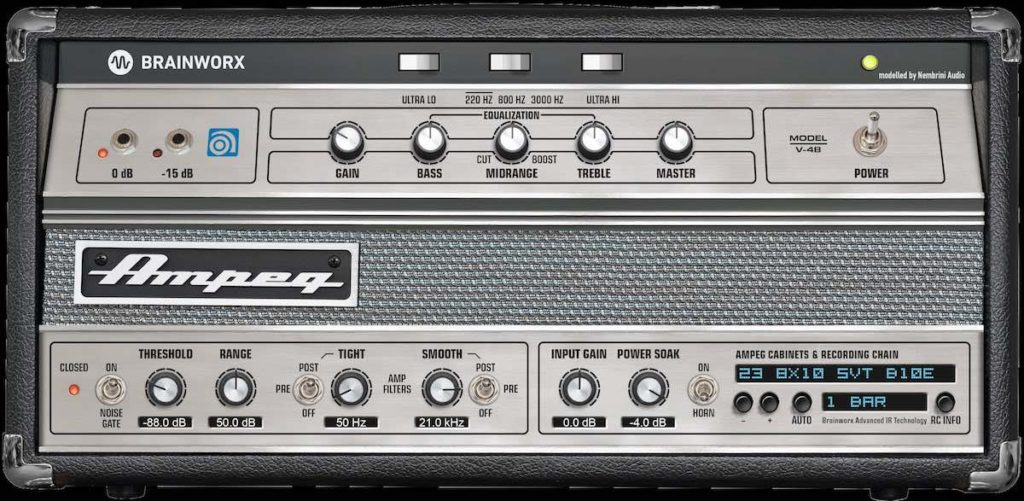 Ampeg V4B amp bass plug-in virtual fx daw software strumenti musicali