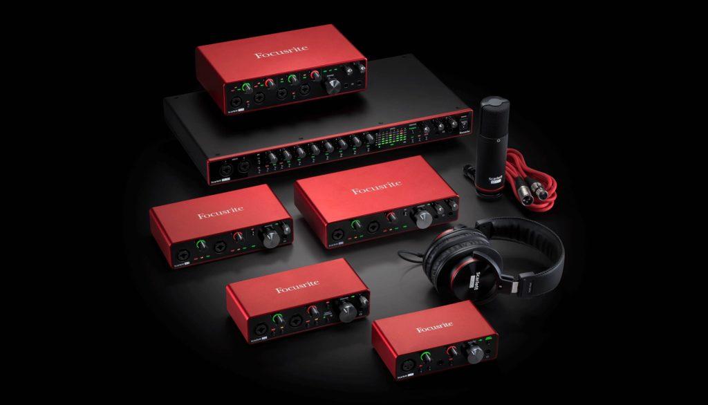 Focusrite interfaccia audio pro semipro hardware studio audiofader