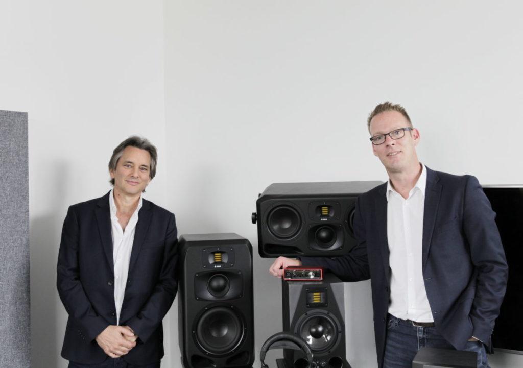 Adam Audio Focusrite interfaccia monitor audio pro midi music audiofader
