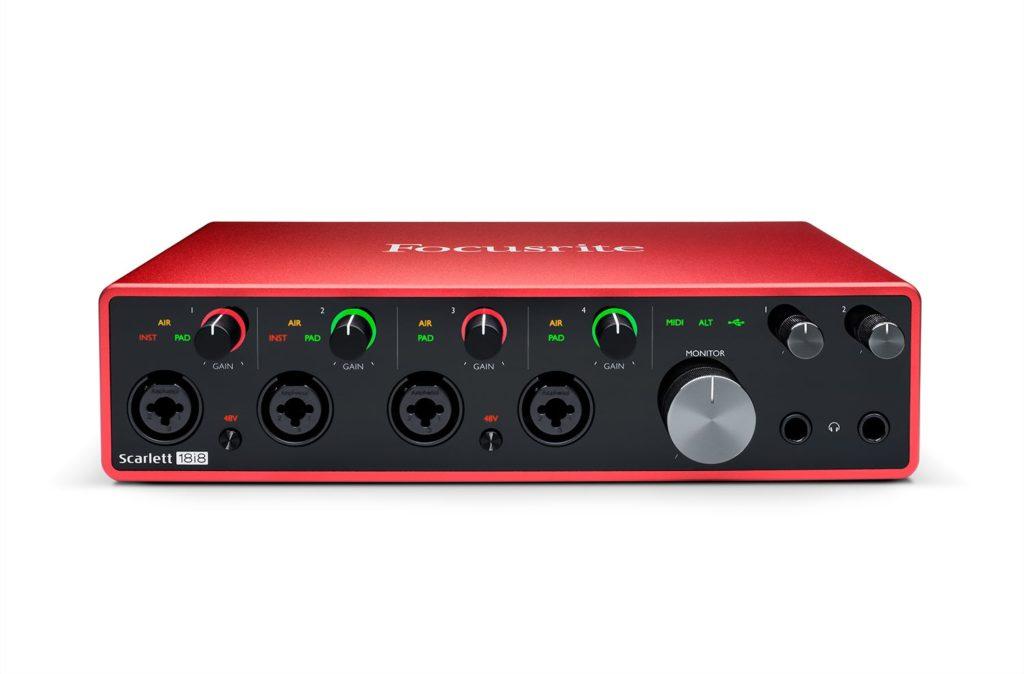Focusrite Scarlett 18i8 interfaccia audio pro studio home eko music group strumenti musicali