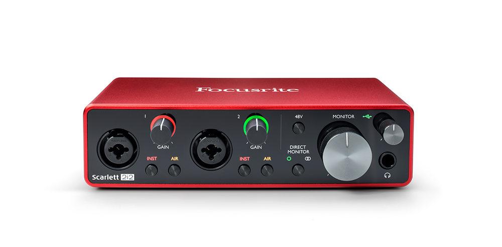 Focusrite Scarlett 2i2 interfaccia audio pro studio home eko music group strumenti musicali