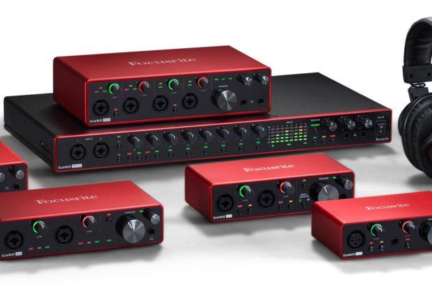 Focusrite Scarlett solo 8i6 2i2 4i4 18i8 18i20 interfaccia audio pro studio home eko music group strumenti musicali