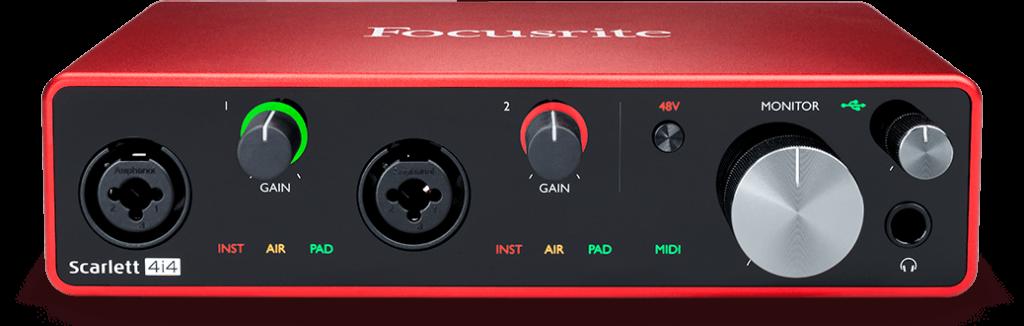 Focusrite Scarlett 4i4 interfaccia audio pro studio home eko music group strumenti musicali