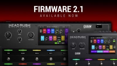 HeadRush Firmware 2.1 software chitarra guitar soundwave pedalboard gigboard strumenti musicali