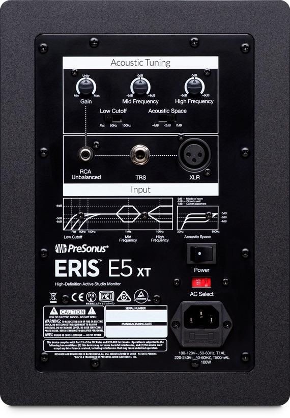 PreSonus Eris XT E5 studio monitor pro home audio midi music audiofader