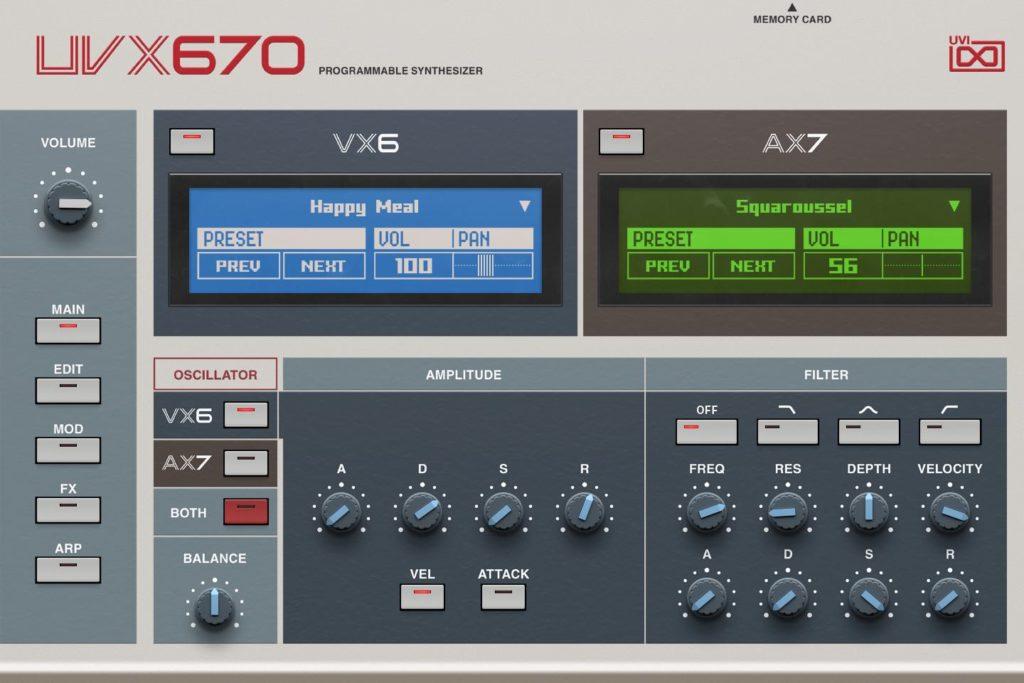 UVI UVX670 music producer synth virtual instrument sintetizzatore daw software strumenti musicali