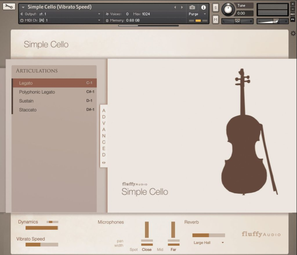 Fluffy Audio Simple Cello virtual instrument library libreria sample bass strumenti musicali