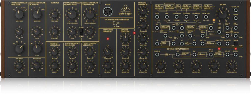 Behringer K-2 hardware analog synth sintetizzatore ms-20 korg vintage modern strumenti musicali