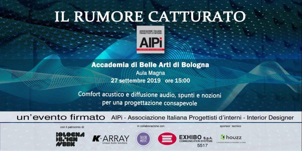 Exhibo evento AIPI bologna accademia belle arti acustica design audiofader