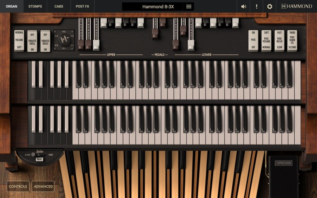 Ik Multimedia Hammond B-3X virtual instrument keyboard keys tastiera organ music producer b3 strumenti musicali