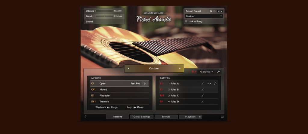 Native Instruments Session Guitarist Picked Acoustic software midi music chitarra guitar strumenti musicali