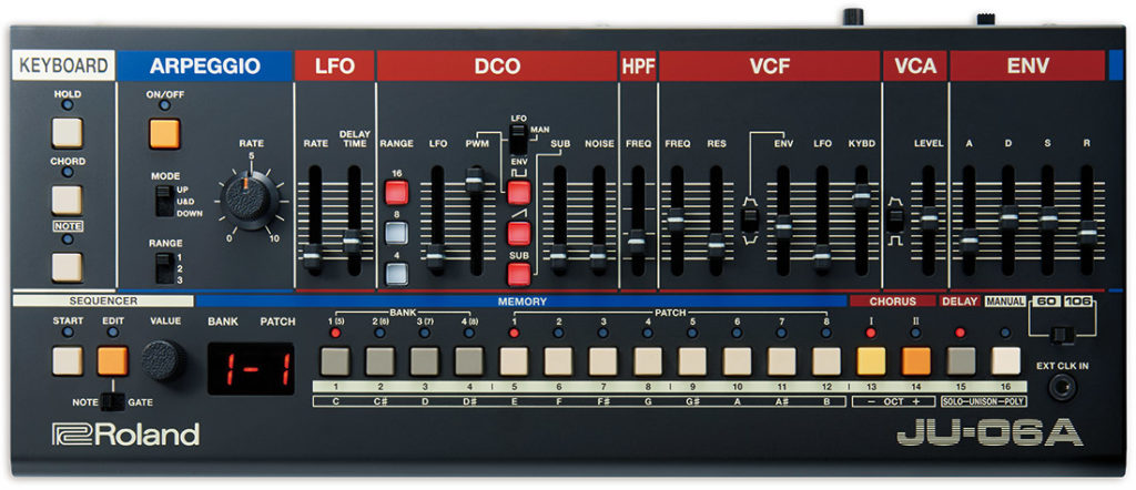 Roland JU-06a synth sintetizzatore vintage modern juno strumenti musicali