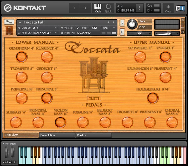 Sonokinetic Toccata sample library virtual instrument organ strumenti musicali