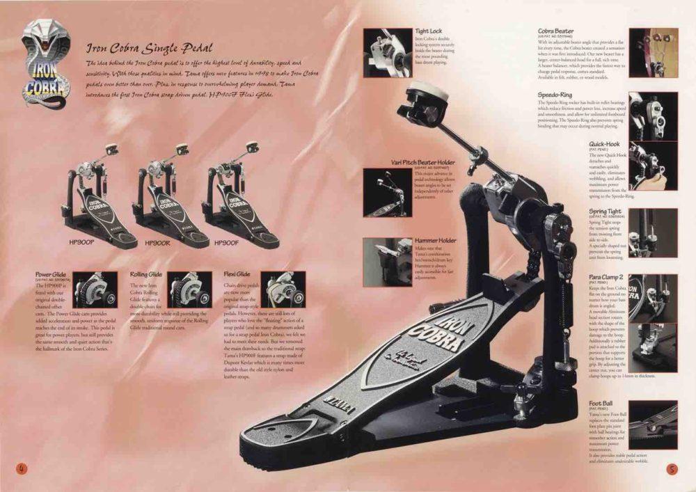 pedali batteria iron cobra tama