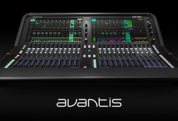 Allen&Heath Avantis console digital mixer hardware live exhibo audiofader