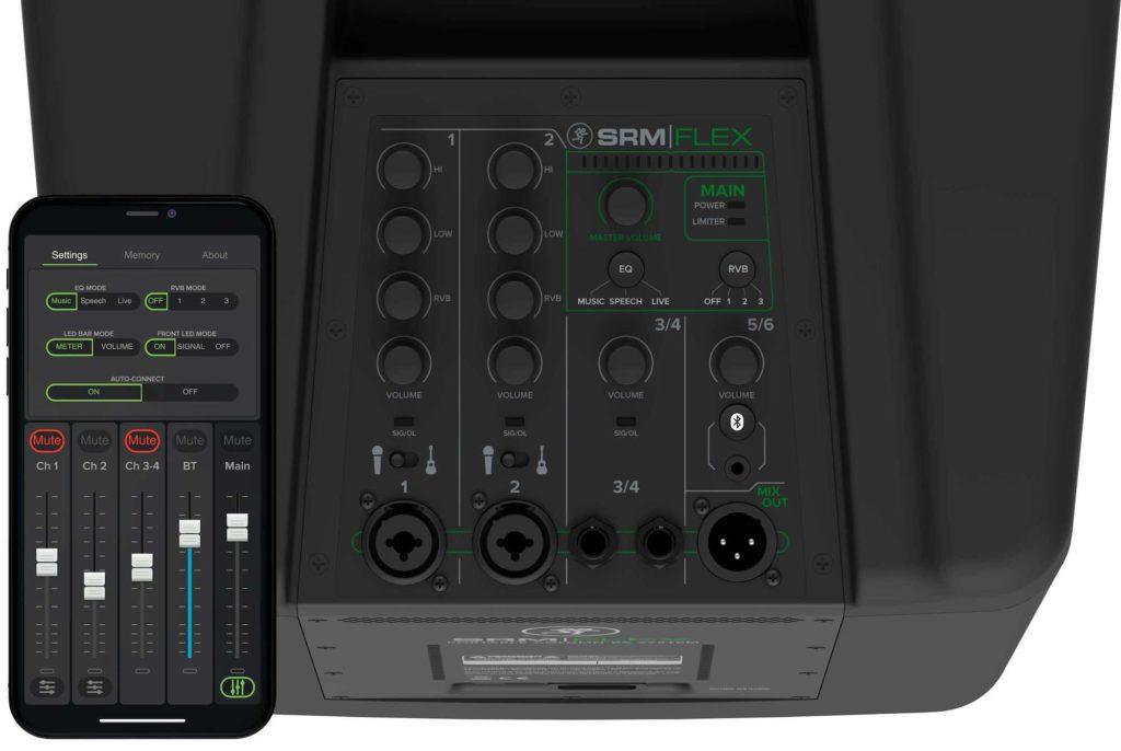 Mackie SRM PA portatile sistema audio live performance music speech adagio strumenti musicali