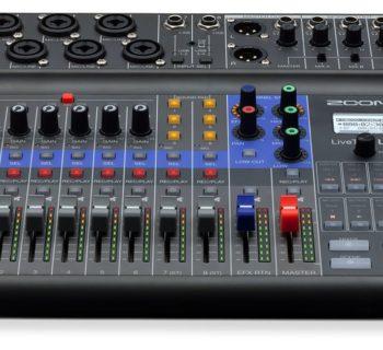 Zoom L-8 livetrak rec podcast mixer digital hardware mogar strumenti musicali