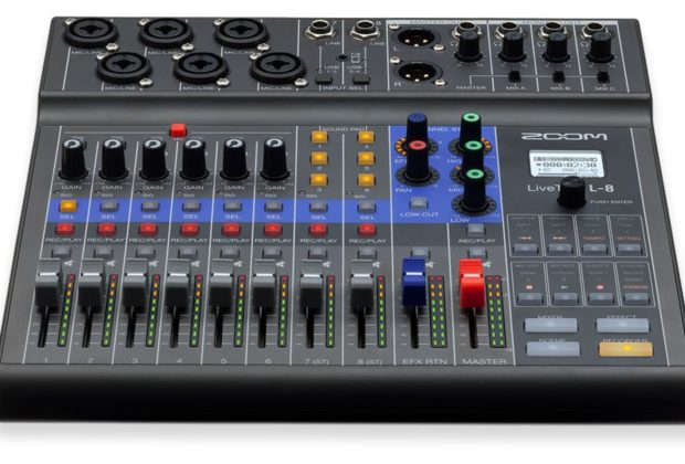 Zoom L-8 livetrak rec podcast mixer digital hardware mogar strumenti musicali