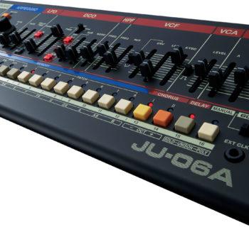 Roland JU-06a synth hardware analog digital botique test luca pilla audiofader magazine