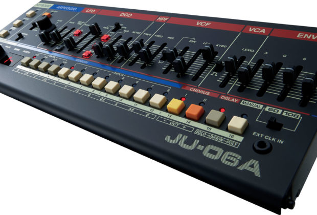 Roland JU-06a synth hardware analog digital botique test luca pilla audiofader magazine