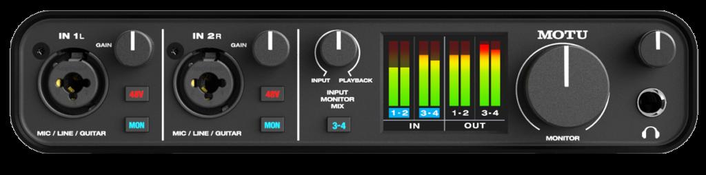 interfaccia audio Motu M4 backline studio pro hardware home project audiofader