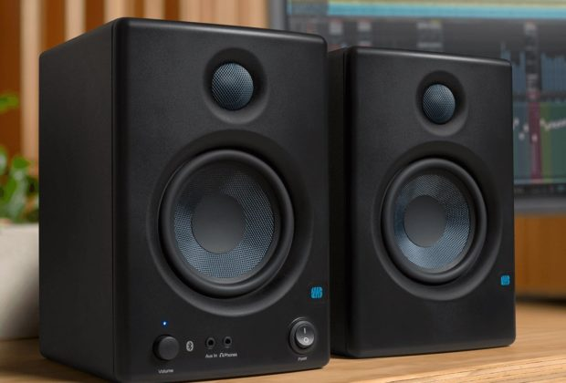 PreSonus Eris E45bt bluetooth studio monitor home project midi music rec mix audiofader