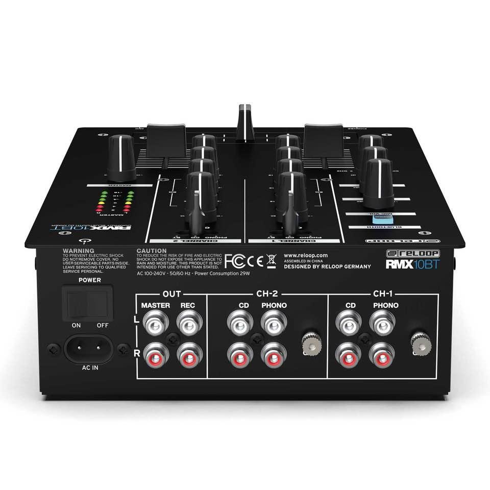 Reloop RMX-10bt mixer soundwave dj live performance club strumenti musicali