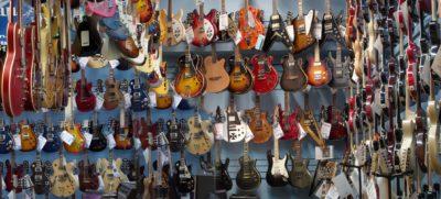 muro chitarre strumenti musicali