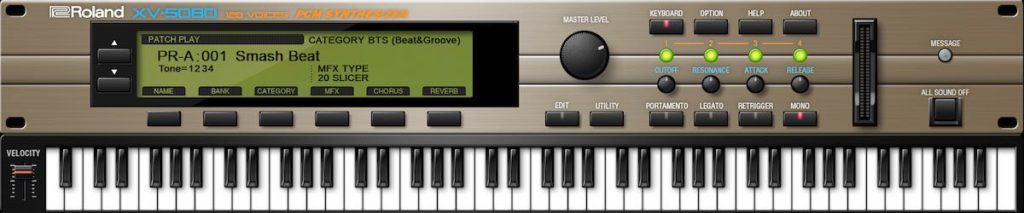 RolandCloud roland XV-5080 virtual instrument synth expander strumenti musicali