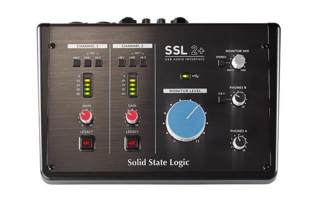 SSL 2+ interfaccia audio pro home project studio midiware audiofader