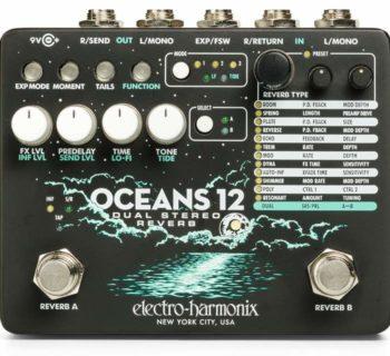 EHX Oceans-12 electro harmonix pedale stomp fx riverbero reverb rit strumenti musicali