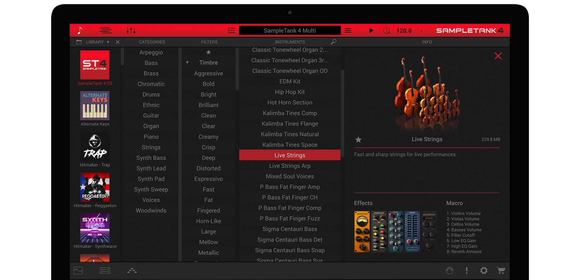 Ik Multimedia SampleTank 4 CS virtual instrument sample pack strumenti musicali