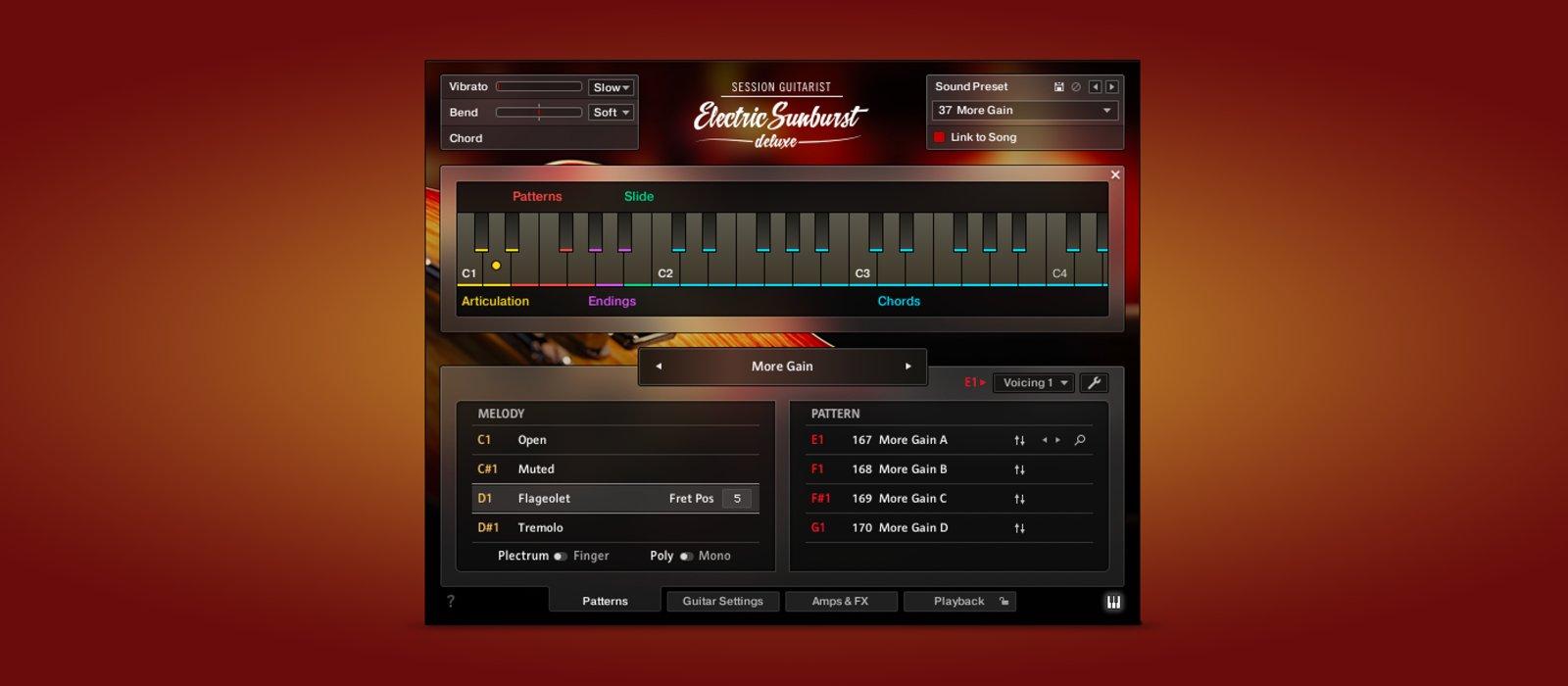 Native Instrument Session Guitarist – Electric Sunburst Deluxe chitarra guitar elettrica electric midi music strumenti musicali