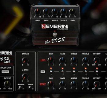 Nembrini Audio The Boss stomp rack virtual amp fx plug-in audio audiofader