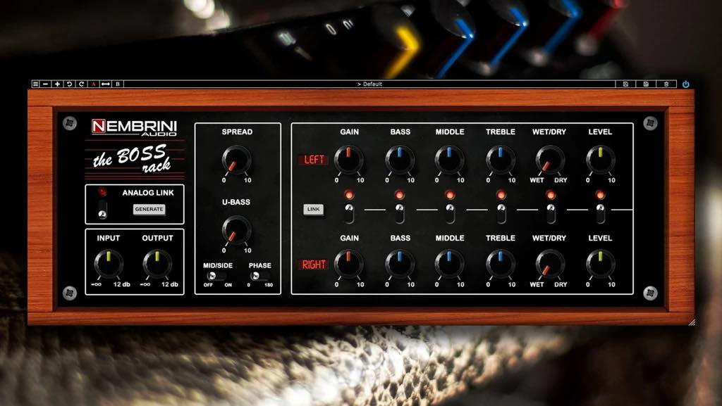 Nembrini Audio The Boss stomp rack virtual amp fx plug-in audio audiofader