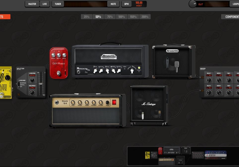 TH-U Marshall Brunetti Dual Amp Set strumenti musicali