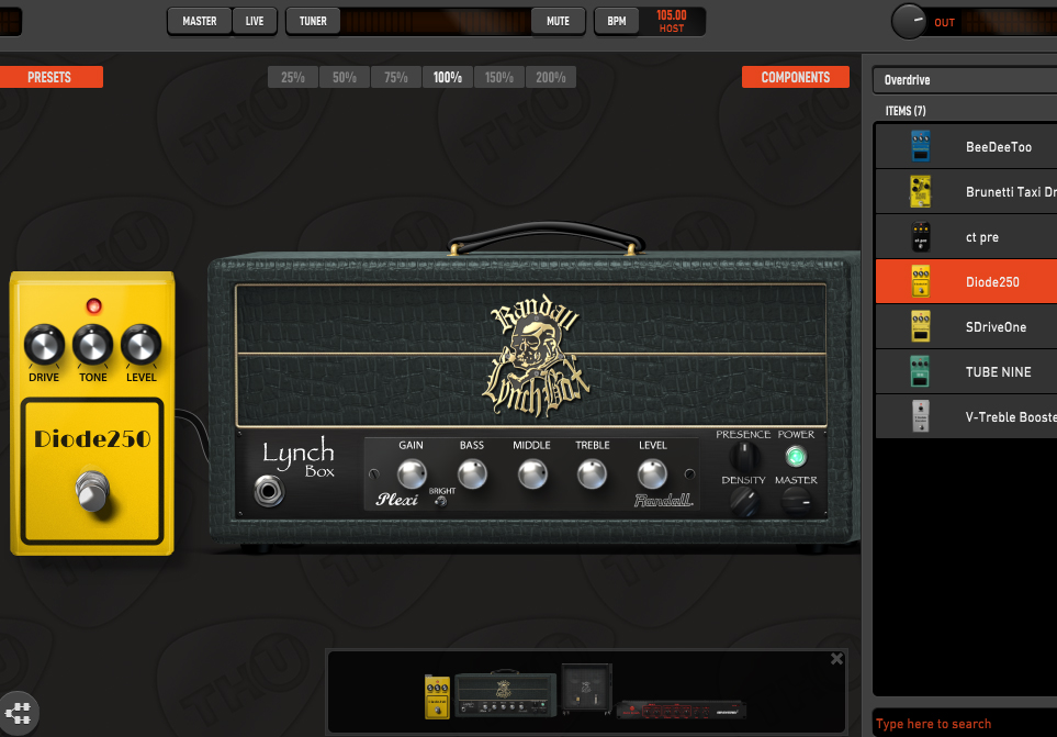 TH-U Randall LynchBox Crunch strumenti musicali