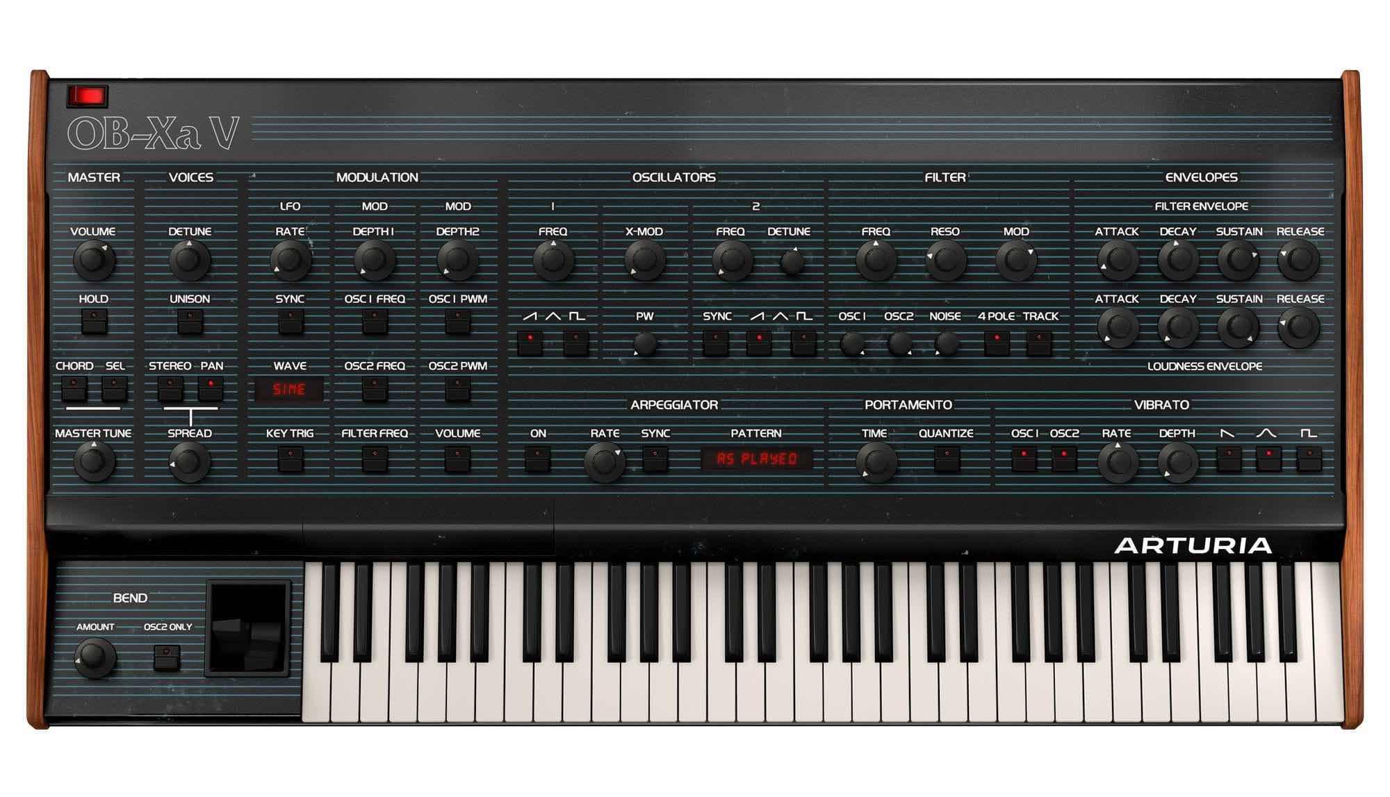 Arturia OB-Xa V synth soft virtual instrument sintetizzatore producer music daw midiware strumenti musicali