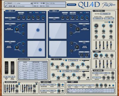 RobPapen Quad software synth virtual producer rack extension strumenti musicali