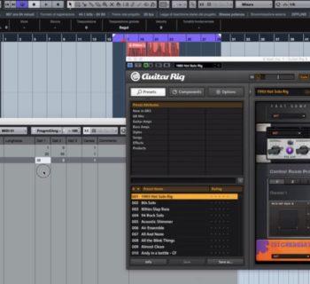 programmazione MIDI Guitar Rig strumenti musicali