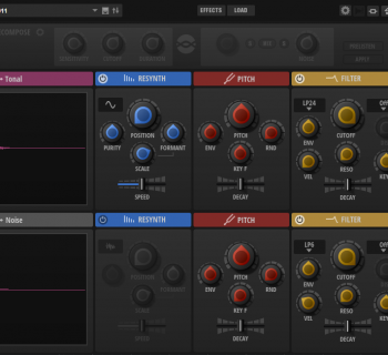 Steinberg Backbone GUI resynthesizer vst drum cubase percussive sound subacractive plug-in au music production sound design test pierluigi bontempi strumenti musicali