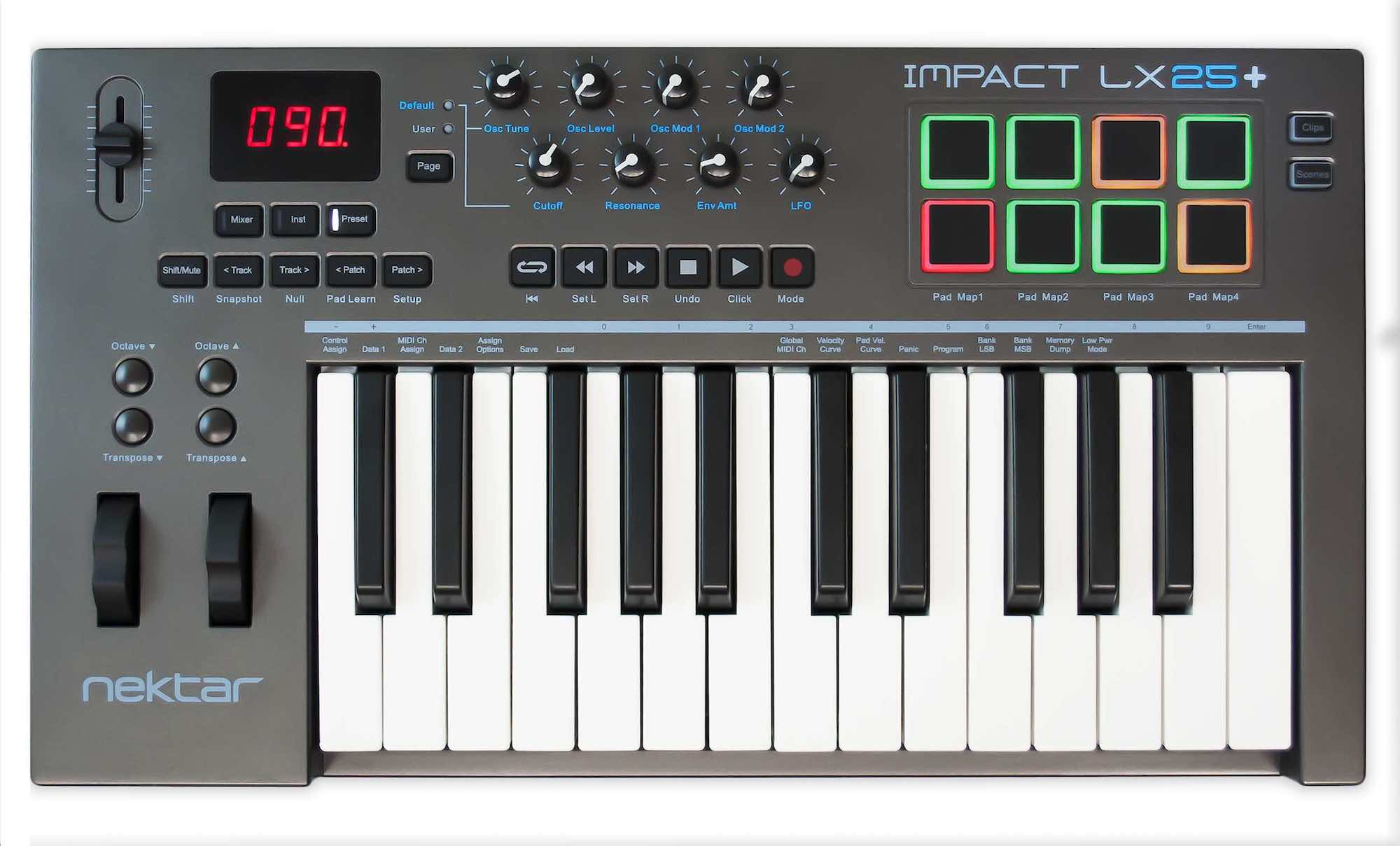 Nektar Impact LX25+ controller MIDI keyboard tastiera DAW hardware music production steinberg production starter kit strumenti musicali daw integration