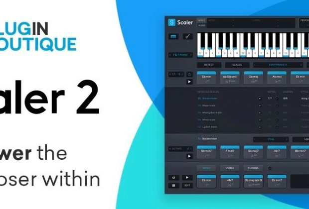 Pluginbotique Scaler 2 software plug-in audio virtual producer music accordi score spartito strumenti musicali