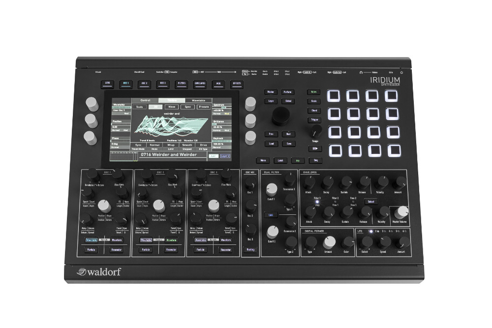 Waldorf Iridium synth hardware digital music producer desktop rackmount quantum rackmount format sounds midiware strumenti musicali